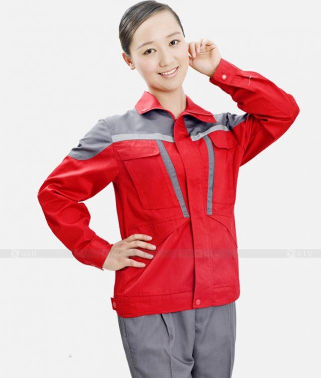Dong phuc cong nhan GLU CN1231 mẫu áo công nhân