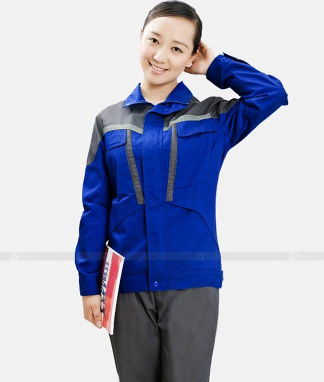 Dong phuc cong nhan GLU CN1232 mẫu áo công nhân