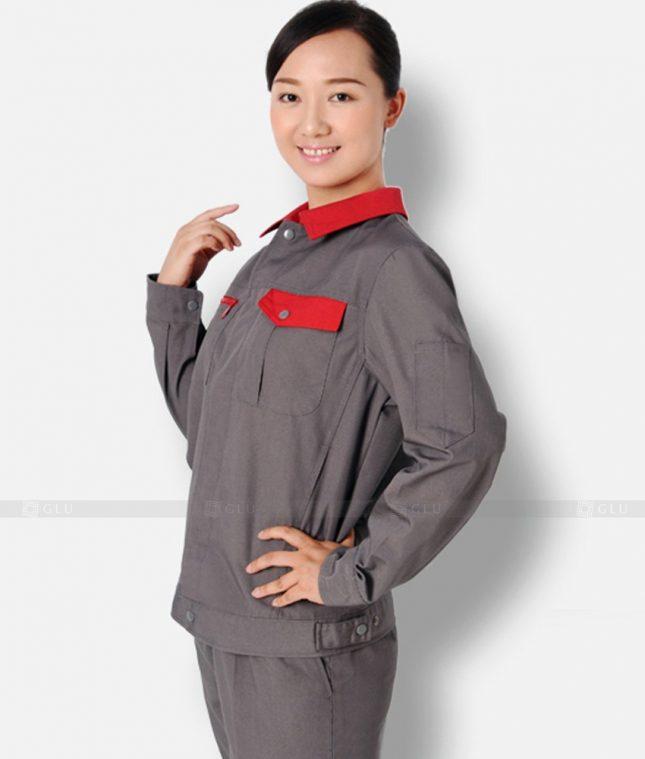 Dong phuc cong nhan GLU CN1233 mẫu áo công nhân