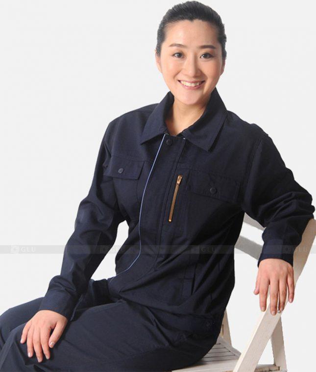 Dong phuc cong nhan GLU CN1235 mẫu áo công nhân