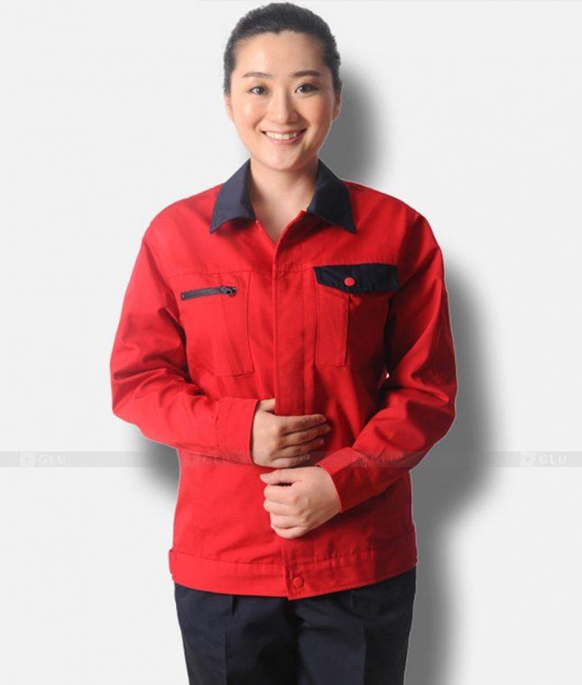 Dong phuc cong nhan GLU CN1236 mẫu áo công nhân