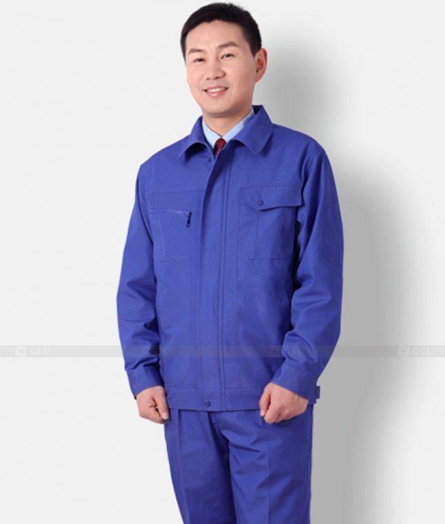 Dong phuc cong nhan GLU CN1237 mẫu áo công nhân