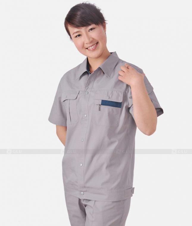 Dong phuc cong nhan GLU CN1239 mẫu áo công nhân