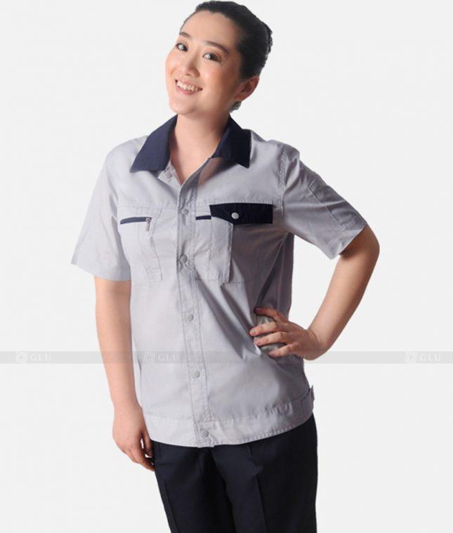 Dong phuc cong nhan GLU CN1240 mẫu áo công nhân