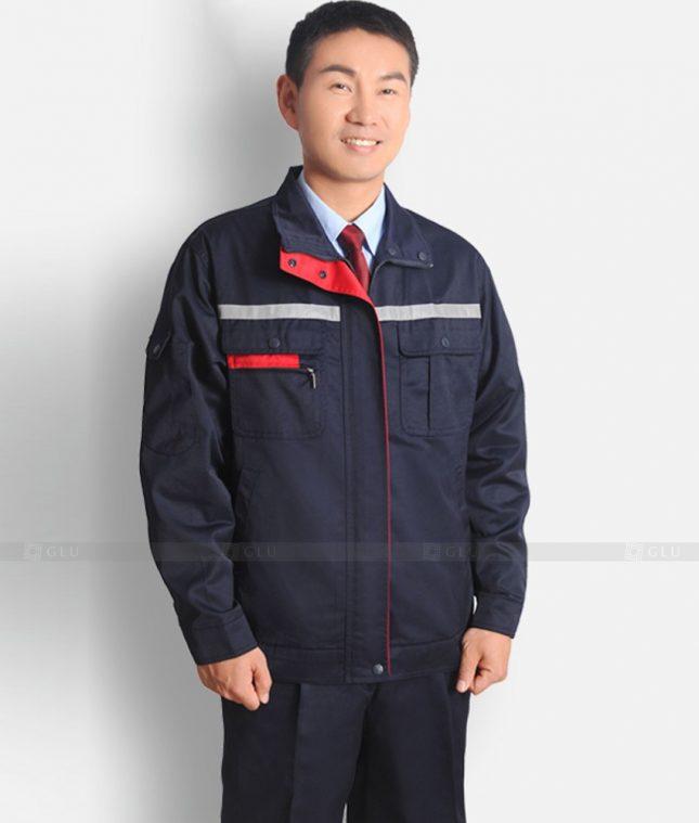 Dong phuc cong nhan GLU CN1242 mẫu áo công nhân
