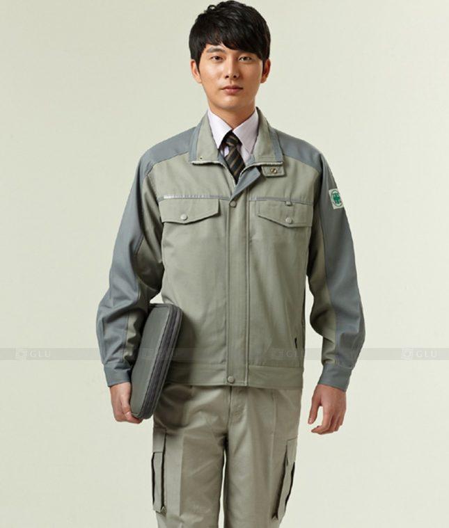 Dong phuc cong nhan GLU CN1243 mẫu áo công nhân