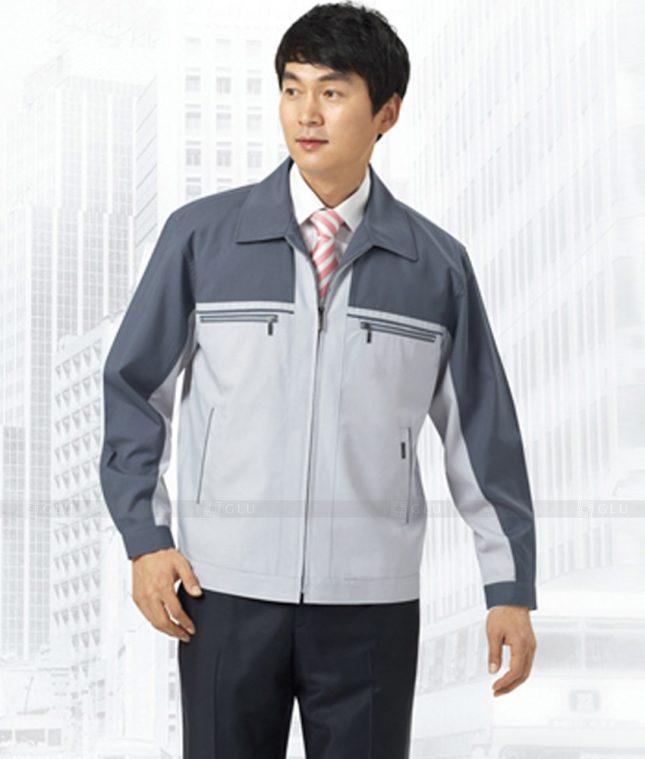 Dong phuc cong nhan GLU CN1244 mẫu áo công nhân