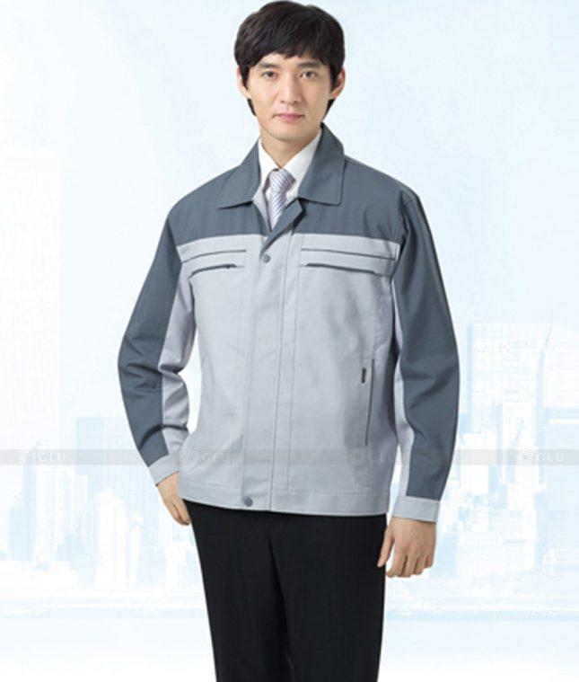 Dong phuc cong nhan GLU CN1245 mẫu áo công nhân