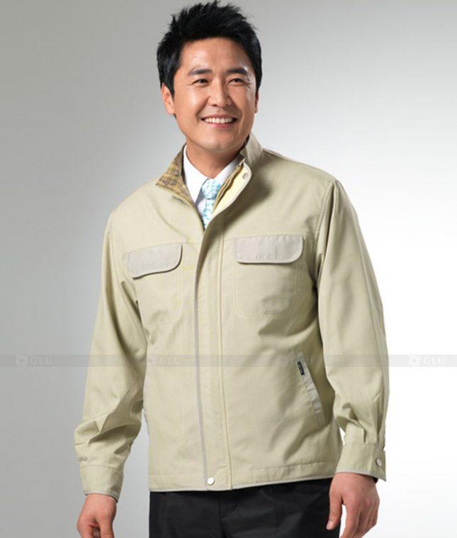 Dong phuc cong nhan GLU CN1247 mẫu áo công nhân