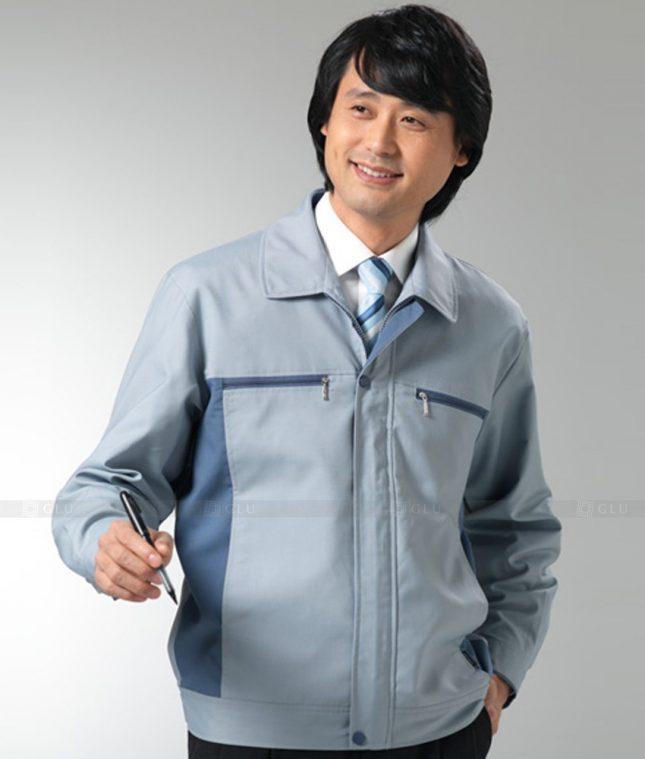 Dong phuc cong nhan GLU CN1249 mẫu áo công nhân