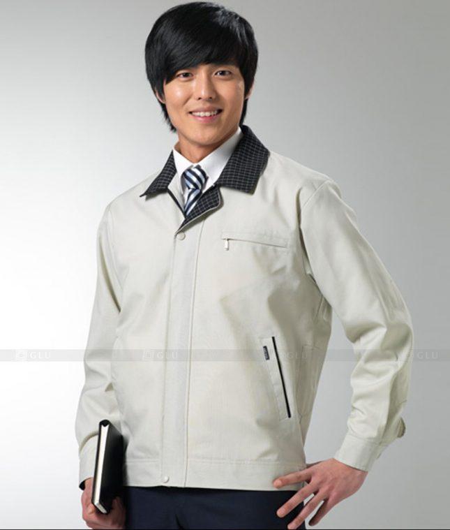 Dong phuc cong nhan GLU CN1250 mẫu áo công nhân