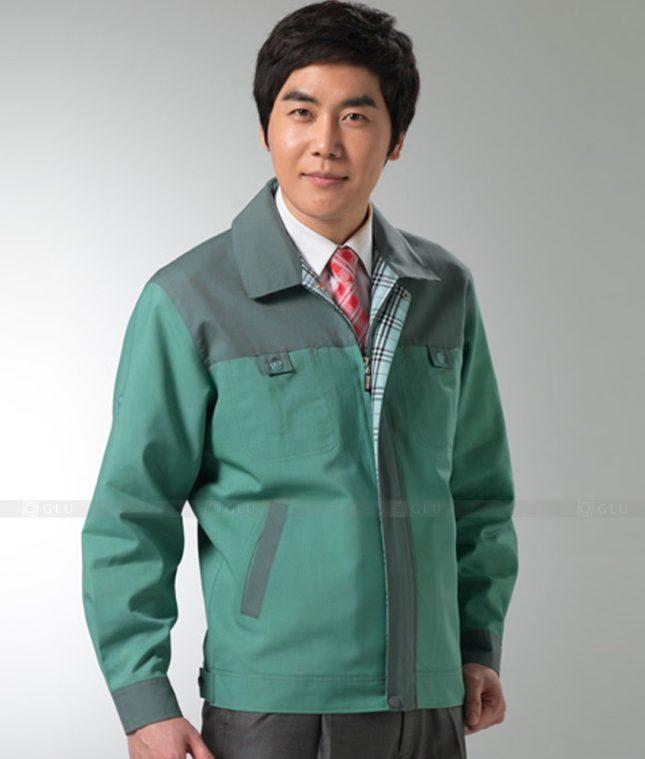 Dong phuc cong nhan GLU CN1251 mẫu áo công nhân