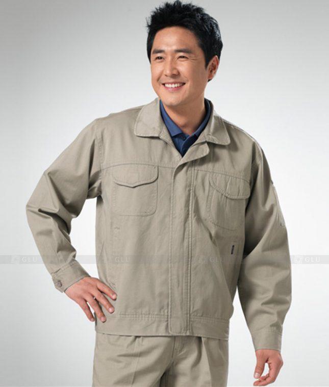 Dong phuc cong nhan GLU CN1252 mẫu áo công nhân
