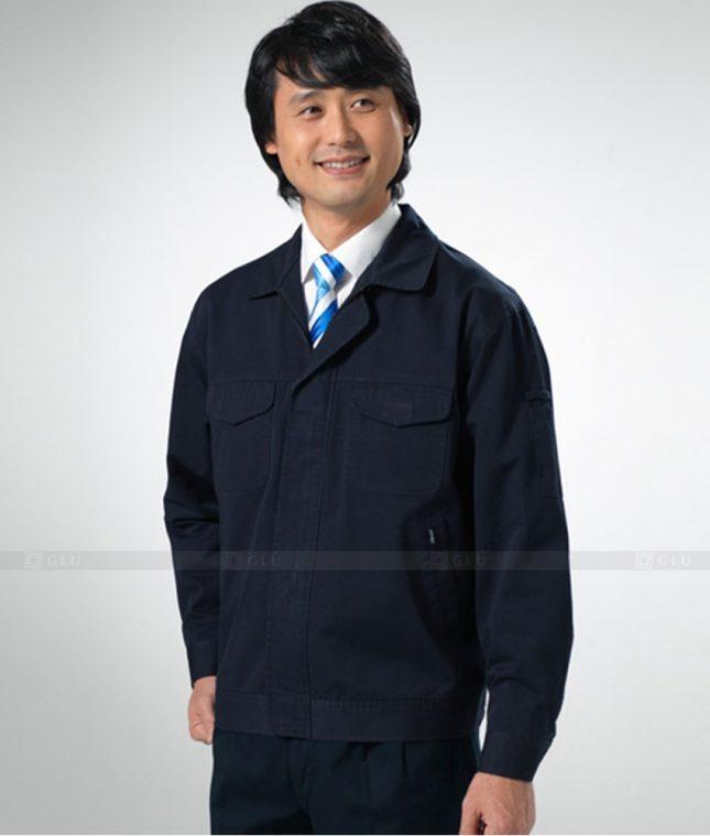 Dong phuc cong nhan GLU CN1253 mẫu áo công nhân