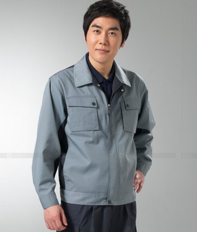 Dong phuc cong nhan GLU CN1254 mẫu áo công nhân