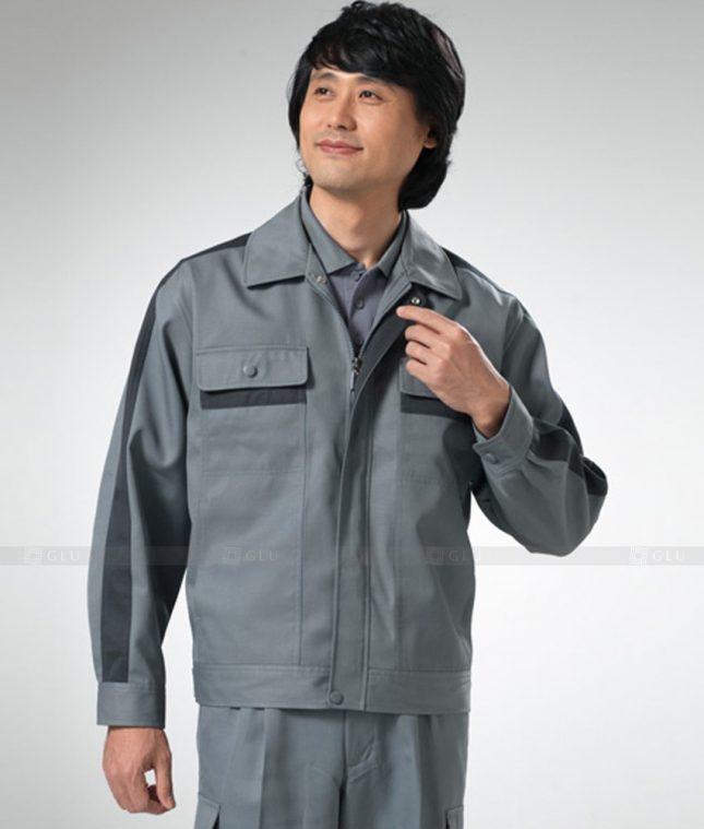 Dong phuc cong nhan GLU CN1255 mẫu áo công nhân