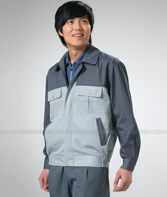 Dong phuc cong nhan GLU CN1256 mẫu áo công nhân