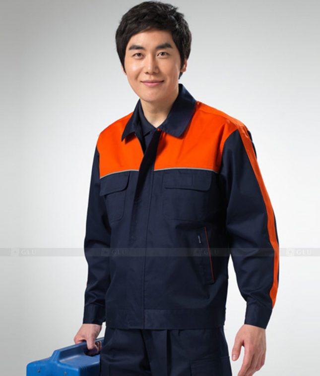 Dong phuc cong nhan GLU CN1257 mẫu áo công nhân