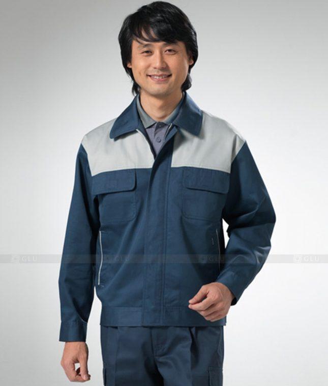 Dong phuc cong nhan GLU CN1258 mẫu áo công nhân