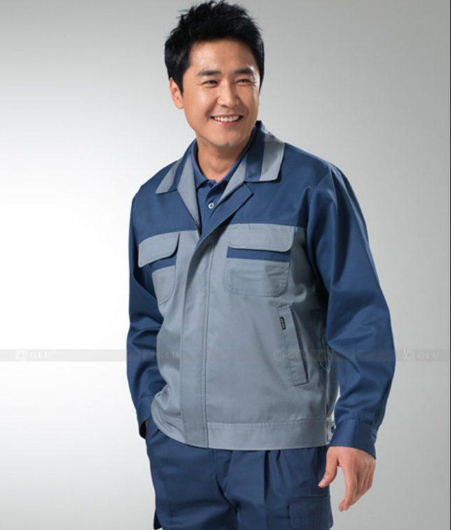 Dong phuc cong nhan GLU CN1259 mẫu áo công nhân