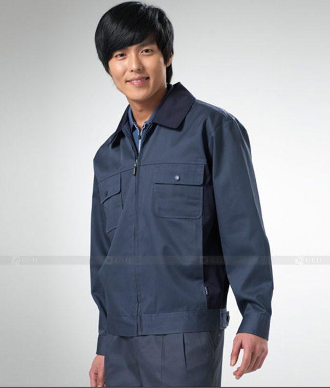 Dong phuc cong nhan GLU CN1260 mẫu áo công nhân