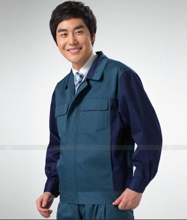 Dong phuc cong nhan GLU CN1261 mẫu áo công nhân