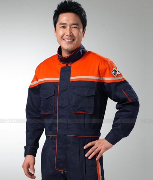 Dong phuc cong nhan GLU CN1264 mẫu áo công nhân
