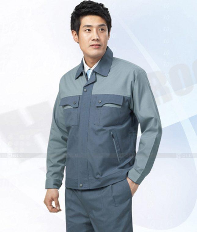 Dong phuc cong nhan GLU CN1265 mẫu áo công nhân