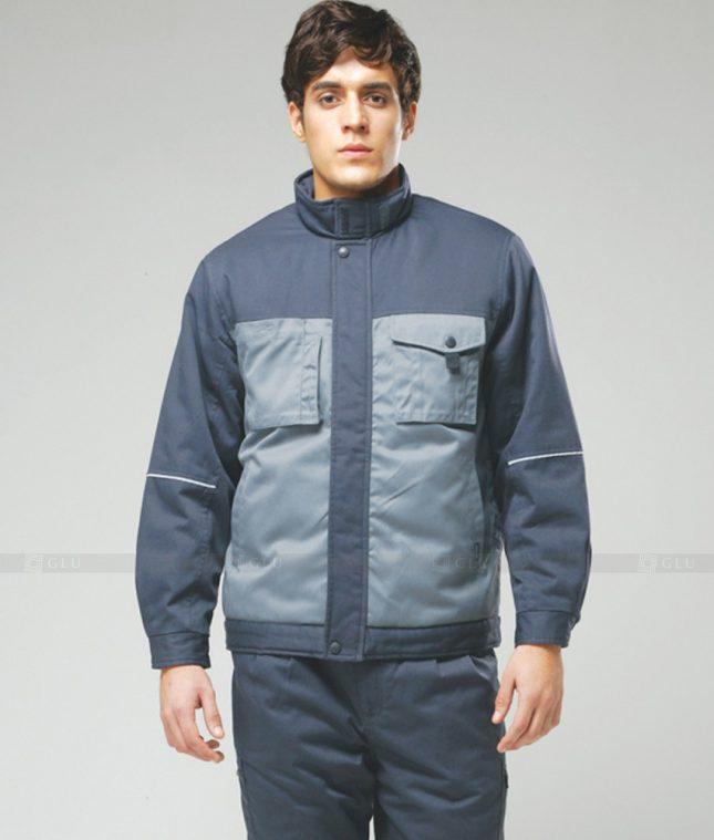 Dong phuc cong nhan GLU CN1267 mẫu áo công nhân
