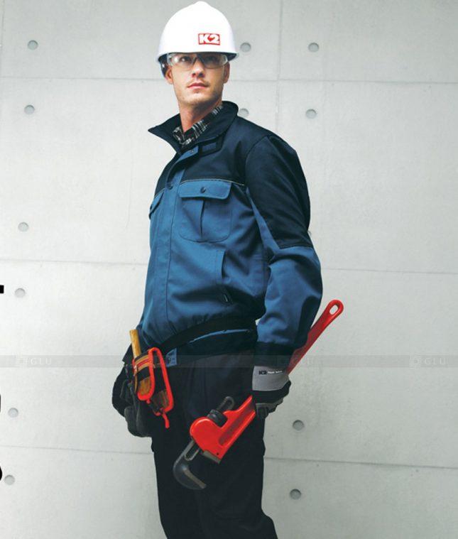 Dong phuc cong nhan GLU CN1270 mẫu áo công nhân