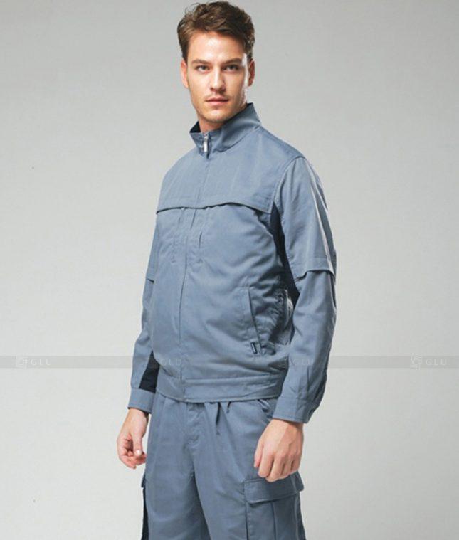 Dong phuc cong nhan GLU CN1272 mẫu áo công nhân