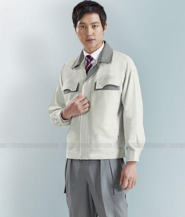 Dong phuc cong nhan GLU CN1276 mẫu áo công nhân
