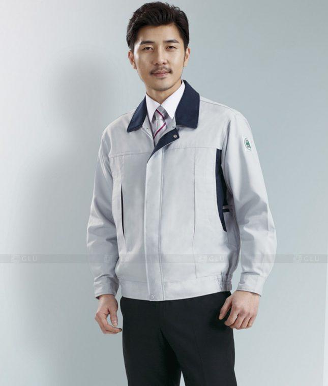 Dong phuc cong nhan GLU CN1277 mẫu áo công nhân