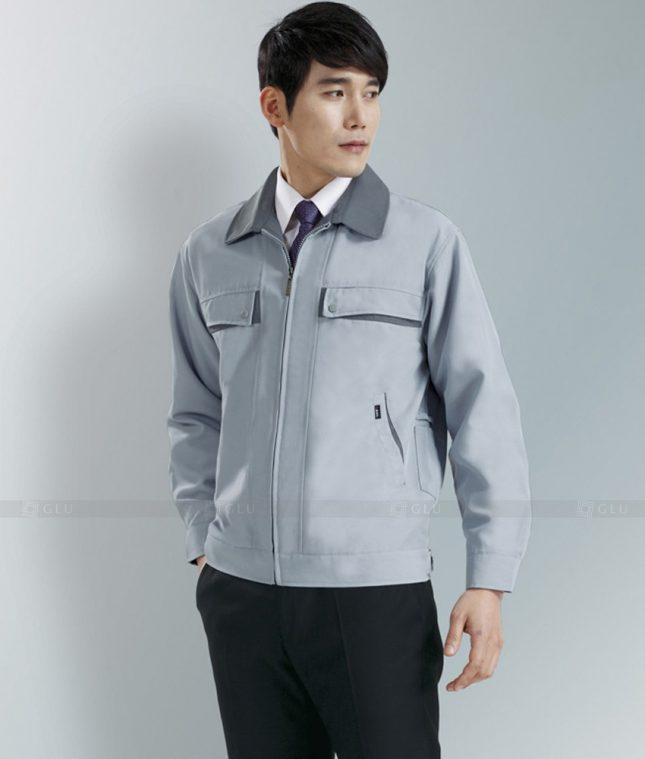 Dong phuc cong nhan GLU CN1278 mẫu áo công nhân