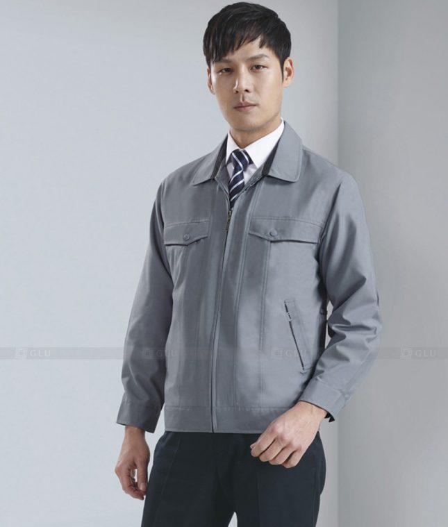Dong phuc cong nhan GLU CN1279 mẫu áo công nhân