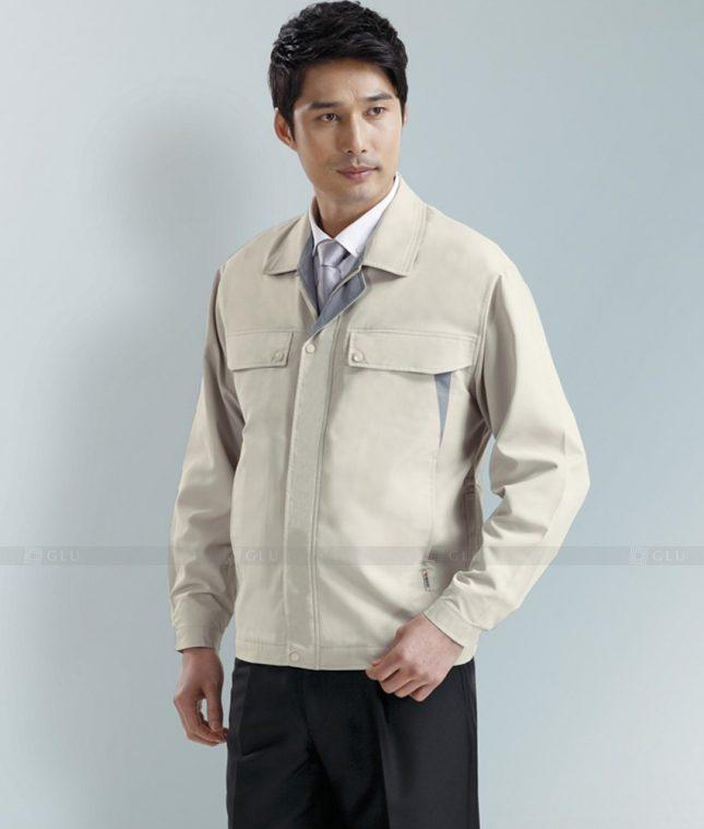 Dong phuc cong nhan GLU CN1283 mẫu áo công nhân