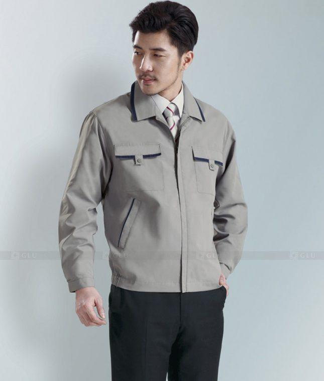 Dong phuc cong nhan GLU CN1284 mẫu áo công nhân