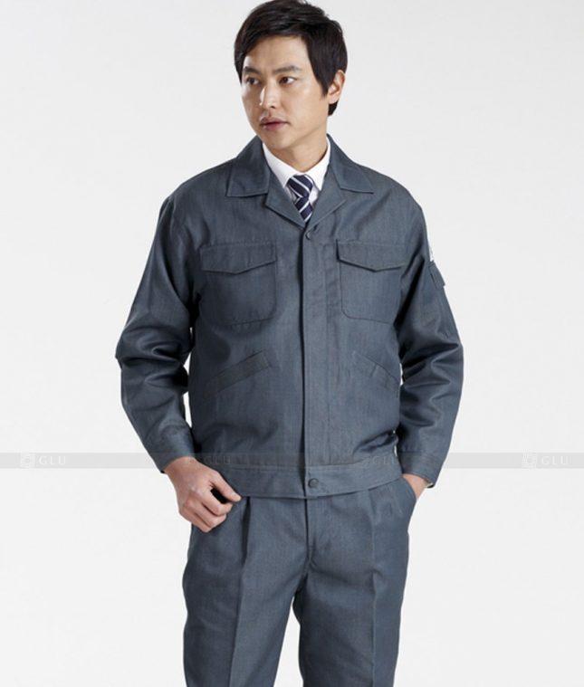Dong phuc cong nhan GLU CN1287 mẫu áo công nhân