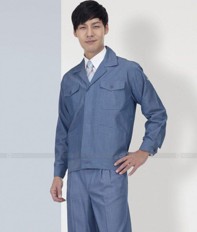 Dong phuc cong nhan GLU CN1288 mẫu áo công nhân