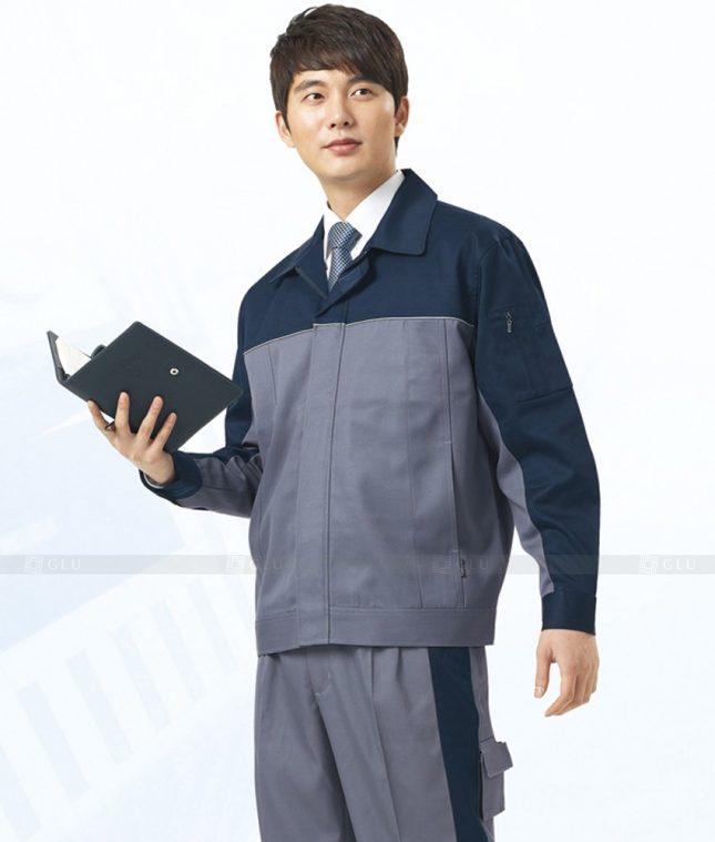 Dong phuc cong nhan GLU CN1291 mẫu áo công nhân