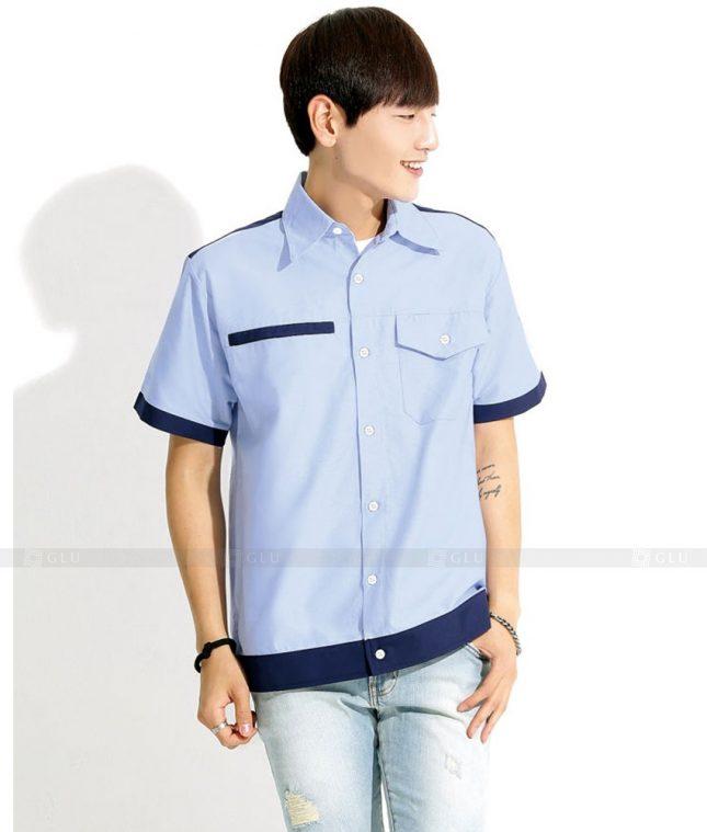 Dong phuc cong nhan GLU CN1293 mẫu áo công nhân