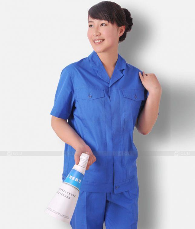 Dong phuc cong nhan GLU CN1295 mẫu áo công nhân