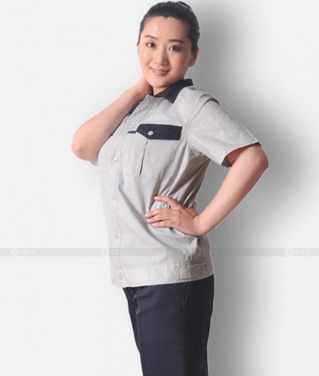 Dong phuc cong nhan GLU CN1296 mẫu áo công nhân
