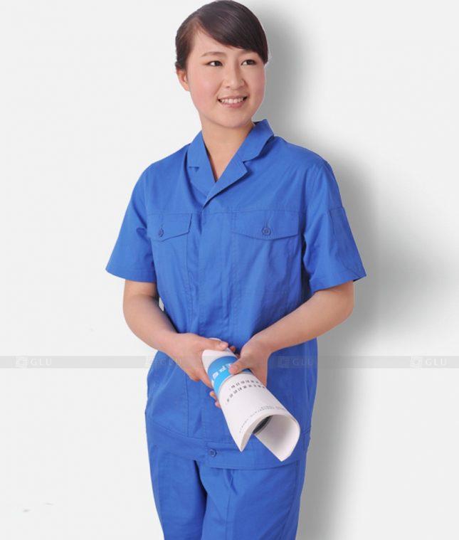Dong phuc cong nhan GLU CN1297 mẫu áo công nhân