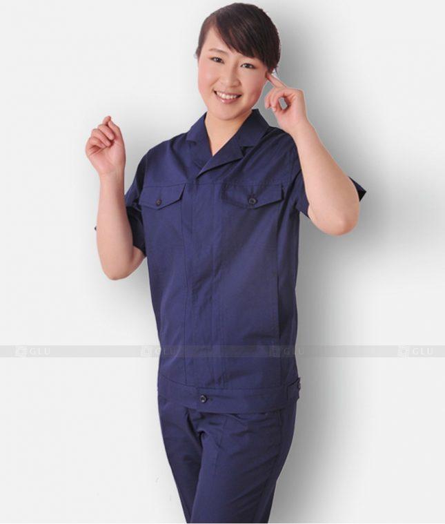 Dong phuc cong nhan GLU CN1300 mẫu áo công nhân