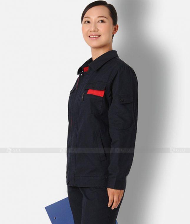 Dong phuc cong nhan GLU CN1301 mẫu áo công nhân