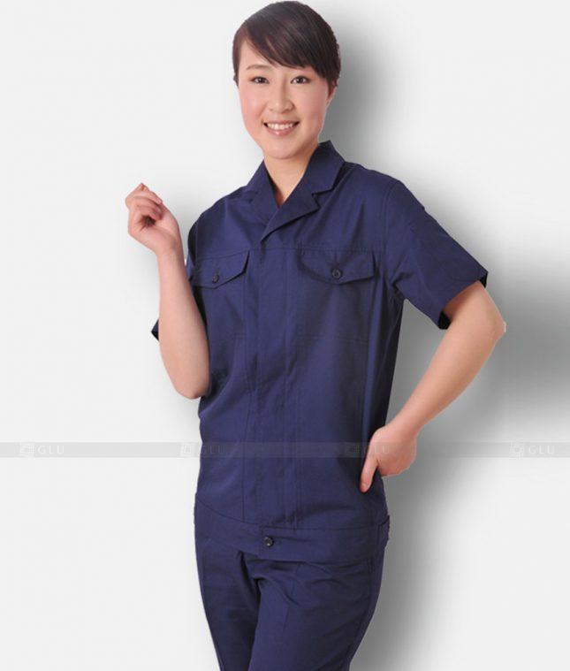 Dong phuc cong nhan GLU CN1303 mẫu áo công nhân