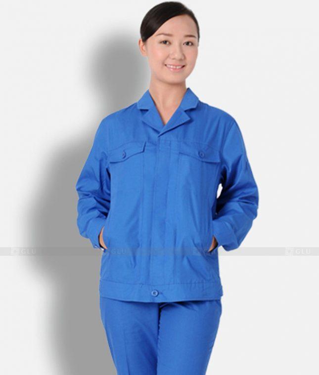 Dong phuc cong nhan GLU CN1304 mẫu áo công nhân