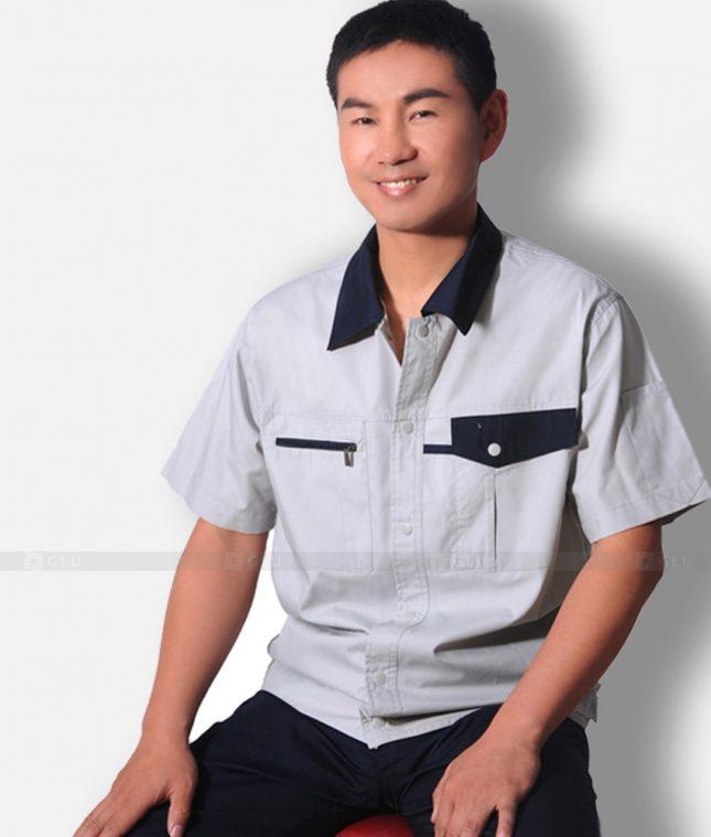 Dong phuc cong nhan GLU CN1305 mẫu áo công nhân