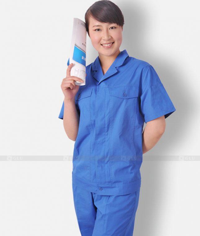 Dong phuc cong nhan GLU CN1306 mẫu áo công nhân